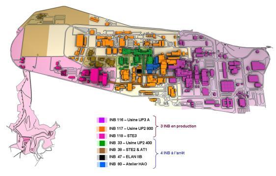 Areva autorisé à démanteler une ancienne usine de retraitement dans Info carte_du_site_la_hague_cle0d5622